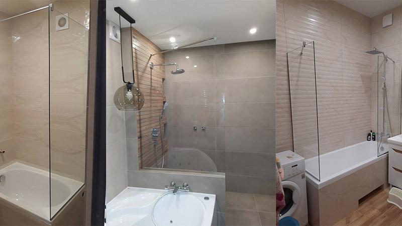 стеклянная шторка для ванной